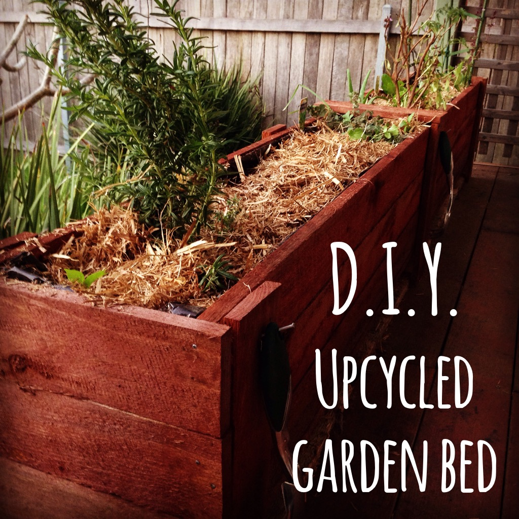 DIY up cycle garden bed